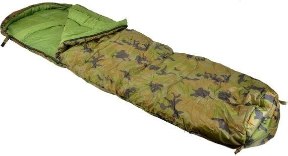 Groene, zwarte en camo slaapzakken