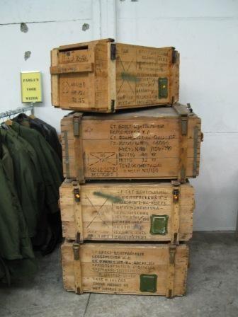 Diverse houten kisten
